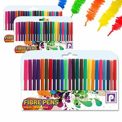 80 Pack Felt Tip Pens Fibre Tipped Drawing Markers Painting Colouring Art School