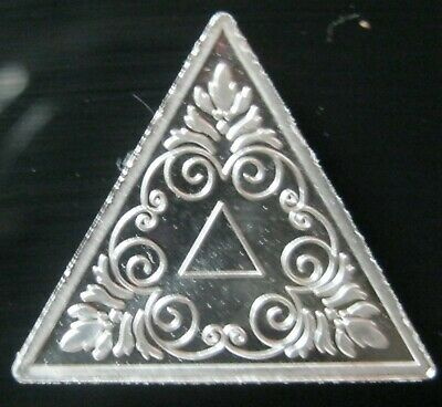 2 gram .999 Fine Pure Solid Silver Bullion Bar / triangle