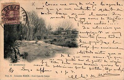 Madrid Coleccion Marin Un Barranco Rara Postal Foto Laurent 1902