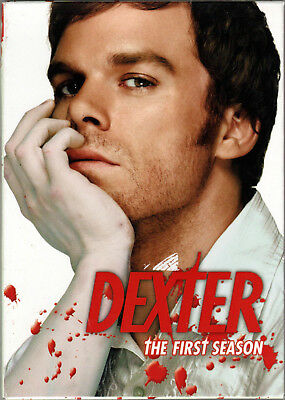 DEXTER The COMPLETE FIRST SEASON 1 on a DVD of SERIAL KILLER Murder CRIME Drama!