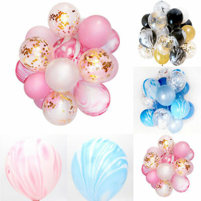 21Pc Balloons Agate Birthday Helium Party Confetti Marble Gold Confetti Shower
