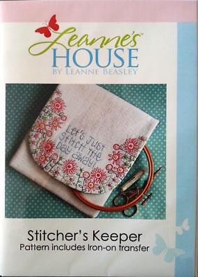 Stitcher's Keeper iron on transfer embroidery design Leanne's House pattern only