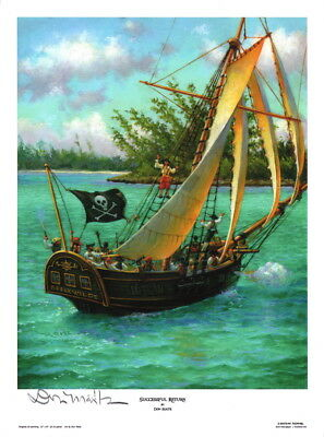 Successful Return ~ Don Maitz Signed Maritime Pirate Ship Jolly Roger Art Print