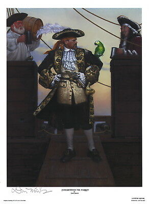 Foulbottom the Parrot ~ Don Maitz Signed Maritime Pirate Ship Art Print
