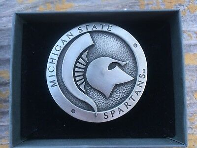 Michigan State Spartans Belt Buckle Made By Heritage Pewter