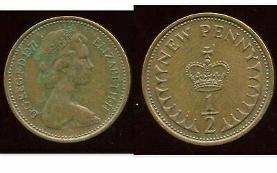ROYAUME UNI  -  GREAT BRITAIN  1/2 penny  1971    ( aus )