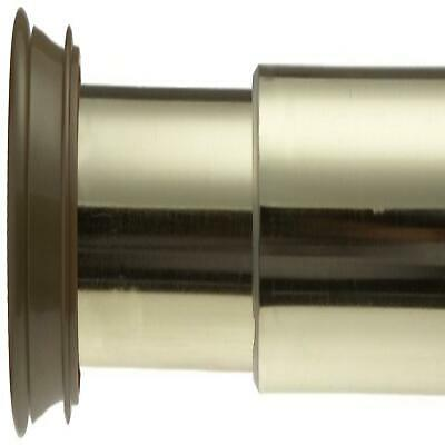 Carnation Home Steel Shower Curtain Tension Rod in Brass