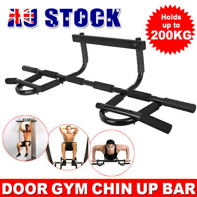Pull Chin Up Bar Gym Door Doorway Portable Power Station Muscle Exercise Fitness