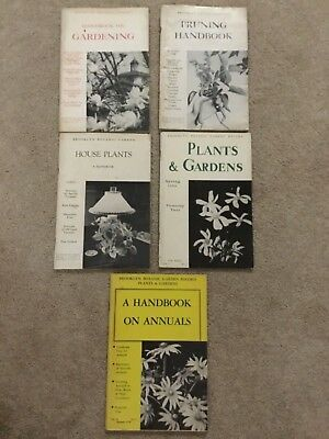 Lot of 5 Vintage  BROOKLYN BOTANIC GARDEN 'Plants and Gardens' Handbooks -