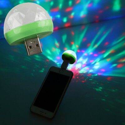 Mini USB Disco Light LED Party Lights Portable Crystal Magic Ball For Home Party