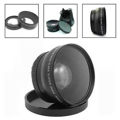 0.45X Wide Angle Lens 58mm w/ Macro Canon EOS 650D 50D 40D 400D 450D LF37 New UK