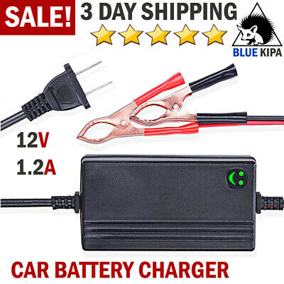 Car Battery Charger 12V Portable Auto Trickle Maintainer Boat Motorcycle RV ATV