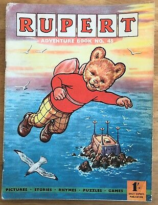 RUPERT Adventure Series No 45 Rupert Adventure Book Pub Nov 1961 VG JANUARY SALE