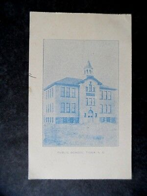1908 Tioga North Dakota Public School Postcard & Cancel