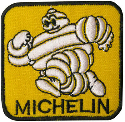 Michelin Yellow 6cm x 6cm Patch Embroidered Sew or Iron on Badge
