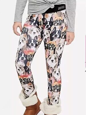 Girls Justice 20 Plus 20P Dog Active Leggings NEW NWT High Waist