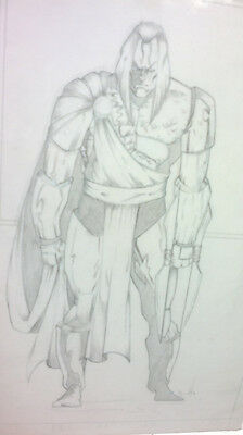 """STORMCROW HAYES full-page pencilled 11x17"""" illustration signed Marvel art board"""