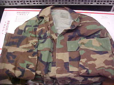 Small Long Blouse Hot Weather Woodland Camouflage Combat Military BDU CCU loc#4