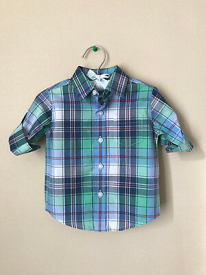 Janie and Jack 3 6 Months Plaid Button Down Shirt Baby Boy Clothes