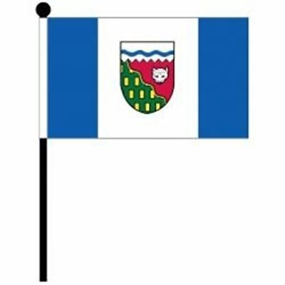 Northwest Territores Provincial 4 X 6 Inch Small Mini Stick Flag With 10 Inch Po
