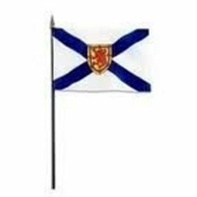 Nova Scotia Ns Provincial 4 X 6 Inch Small Mini Stick Flag With 10 Inch Pole ...