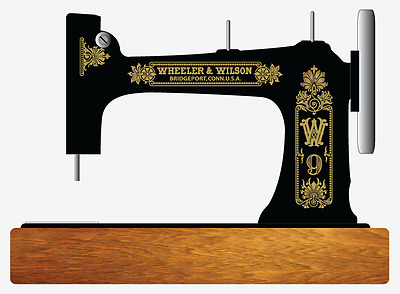 Wheeler & Wilson D9 Sewing Machine Restoration Decals Gold Metallic 41096