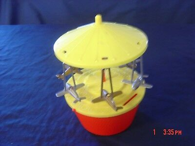 Vintage Airplane Carousel Spinning Bank Italy Mq