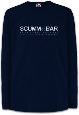 SCUMM Bar Kinder Langarm T-Shirt The Secret of Game Monkey Island Escape from