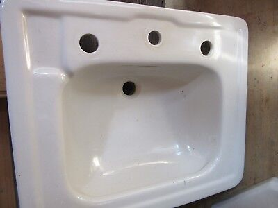 Vintage Porcelean Bathroom Pedestal Sink
