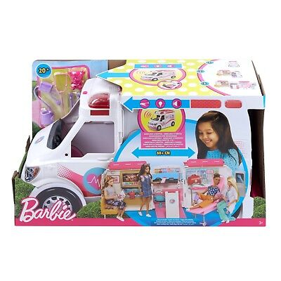 "2019 Barbie Care Van Clinic Playset FITS All 12"" Dolls 20+ Accessories Included"