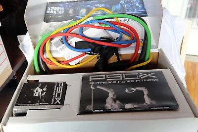 P90X 12 DVD Complete Set With Resistance Band Kit Handles, excellent