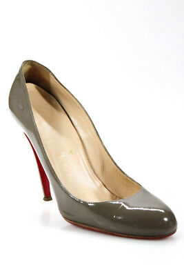 448c5706c53 CHRISTIAN LOUBOUTIN WOMENS Peep Toe Mary Janes Pumps Beige Patent ...