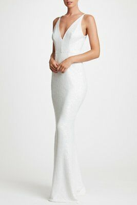 f589cda8fc936 $295 Dress The Population Harper Sequin Mermaid Gown Size M Medium White