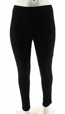 04d87b32779b4 Women with Control Pull-On Ponte Royale Leggings Slim Fitted Black M NEW  A294351