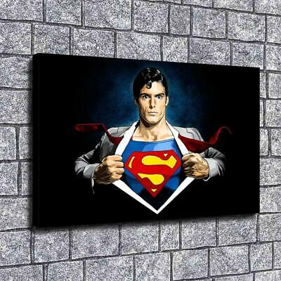 """12""""X20"""" Superman HD Canvas prints Painting Home decor Picture Wall art Posters"""
