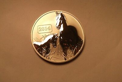2014 Tokelau $5 One Ounce .999 Silver Round Horses As Pictured Free Shipping
