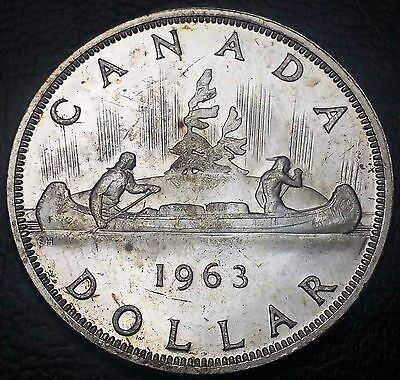 1963 Canada Silver $1 Dollar ***Great Condition*** Nice Detail, 80% Silver Coin