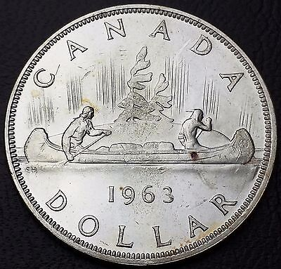 1963 Canada Silver $1 Dollar - 80% Silver ***Mint Condition*** Nice Luster