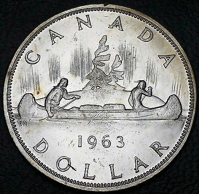 1963 Canada Silver $1 Dollar ***MS+ Condition*** Nice Detail, 80% Silver Coin
