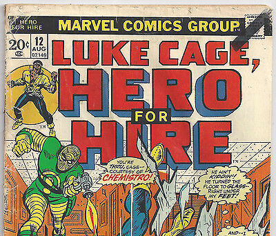Luke Cage Hero for Hire #12 Spider-Man apperance from Aug 1973 in Fair Condition