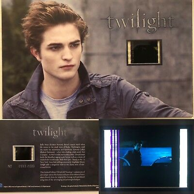 Twilight Robert Pattinson Limited Edition #21 Film Cell Individual Numbered