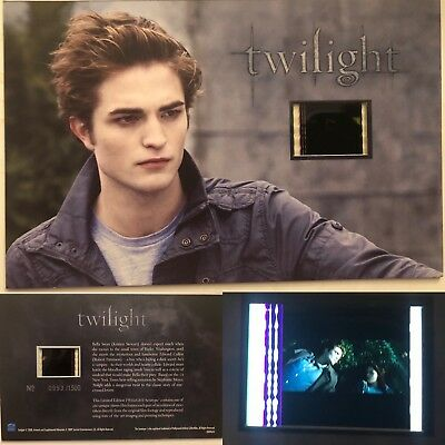 Twilight Robert Pattinson Limited Edition #23 Film Cell Individual Numbered