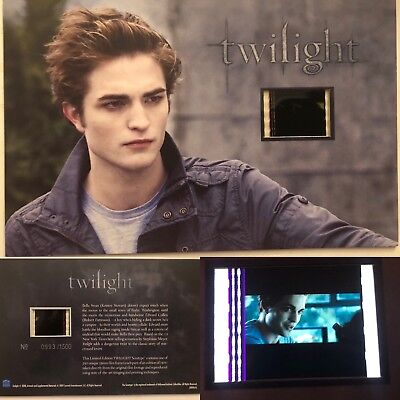 Twilight Robert Pattinson Limited Edition #5 Film Cell Individual Numbered