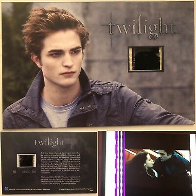 Twilight Robert Pattinson Limited Edition #9 Film Cell Individual Numbered