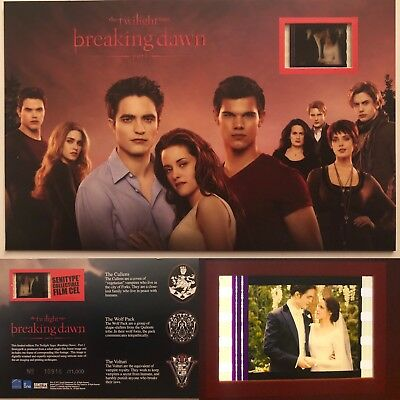 Twilight Breaking Dawn Wedding Limited Ed Film Cell Numbered Robert & Kirstin