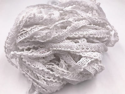 5 yards Vintage White Embroidered Lace Trim Wedding Ribbon Applique Sewing