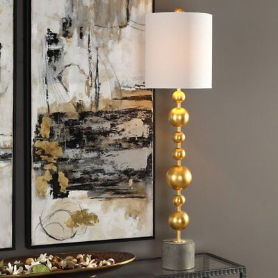 Uttermost Selim Gold Buffet Table Lamp, Gray