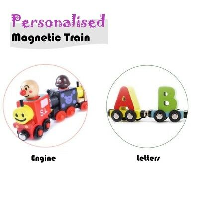 NEW MAGNETIC Wooden Letters Alphabet Trains Kids BEST PERSONALIZED NAME GIFT