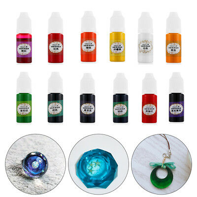 24Colors/10ml Liquid Resin Pigment Dye UV Epoxy Resin For DIY Making Jewelry