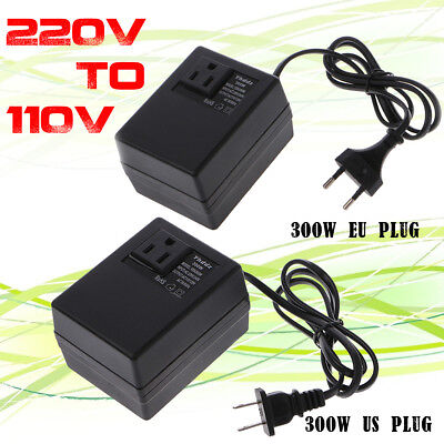300W Voltage Converter Transformer 220V to 110V Step Down US/EU Plug Adapters